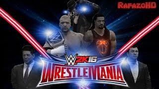 WWE 2K16 [SIMULATION] - WRESTLEMANIA 32 - Full Highlights [HD]