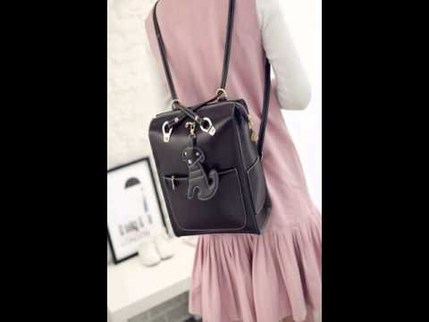 Current fan dual-use single and double shoulder bag.avi