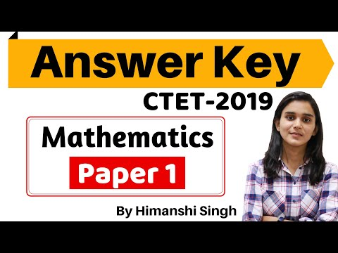 CTET-2019 Answer Key | Paper-01| Mathematics