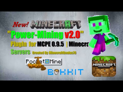 Minecraft Plugin | New Power Mining v2 0 | MCPE 0 9 5 | PocketMine |  Minecraft PC | Bukkit | Spigot