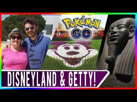 DESTINATION POKEMON GO FEATURING MY MOM! Disneyland & Getty Museum in Los Angeles! Travel Vlog