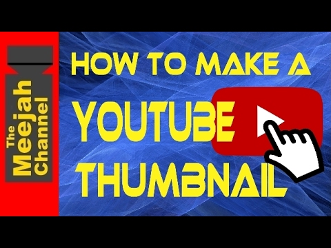 How to make your own Youtube Thumbnail for Free