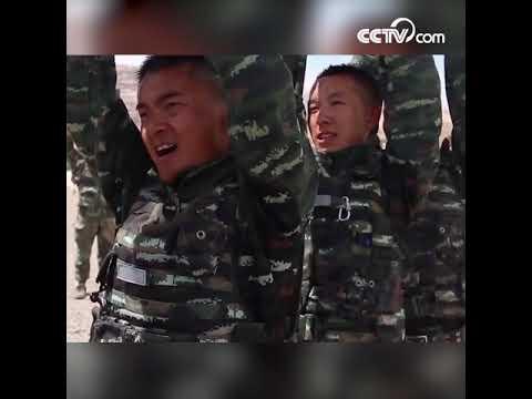 Тренировки китайской вооруженной полиции в экстремальных условиях CCTV Русский