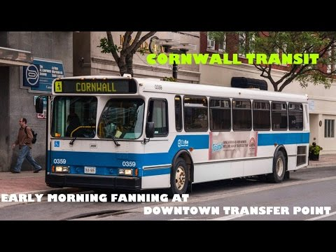 Cornwall Transit: Early Morning Fanning at Downtown Transfer Point [HD]