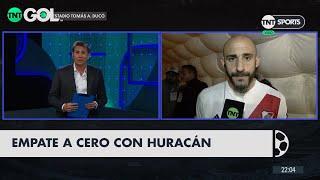 Javier Pinola analizó el empate con Huracán