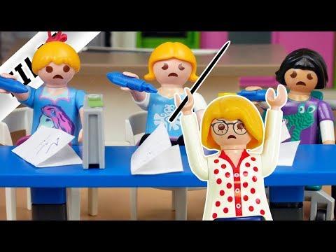 Playmobil Film deutsch SCHULTEST IN DEN FERIEN Claudia Vogel wird zur bösen Lehrerin Kinderserie