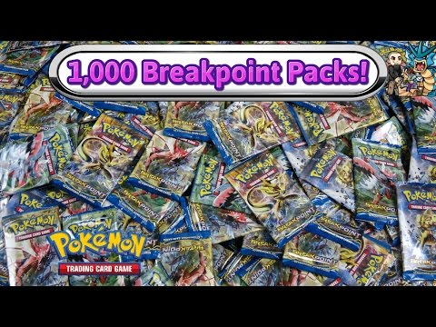 1,000 Breakpoint Pack Opening! $4,000 worth! -  Pokemon Breakpoint booster box x27