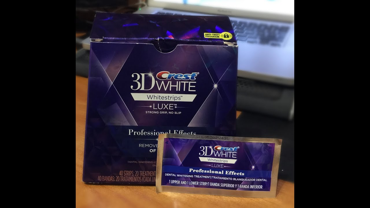 3d crest white strips luxe instructions