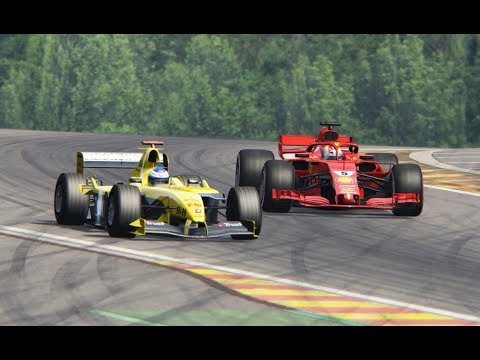 Ferrari F1 2018 vs Jordan F1 2004 - Spa