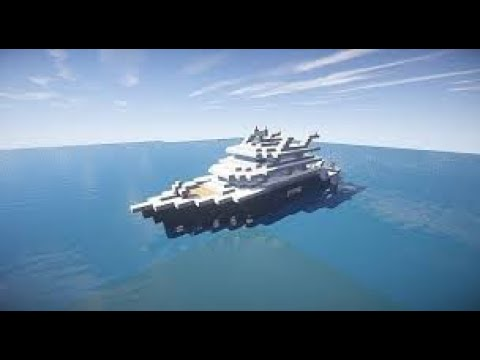 HOW TO MAKE A YACHT IN MINECRAFT TUTORIAL(PLS WATCH WITH SUBTITLES)