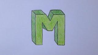 Cómo dibujar la letra M