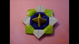 Paper Origami - Spinning Top Toy - 摺紙教學 - 陀螺 - 01