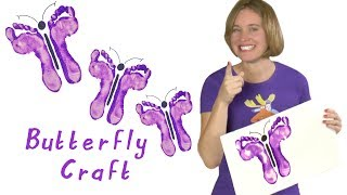 How to Make Butterfly Footprints| Art and Craft for Kids