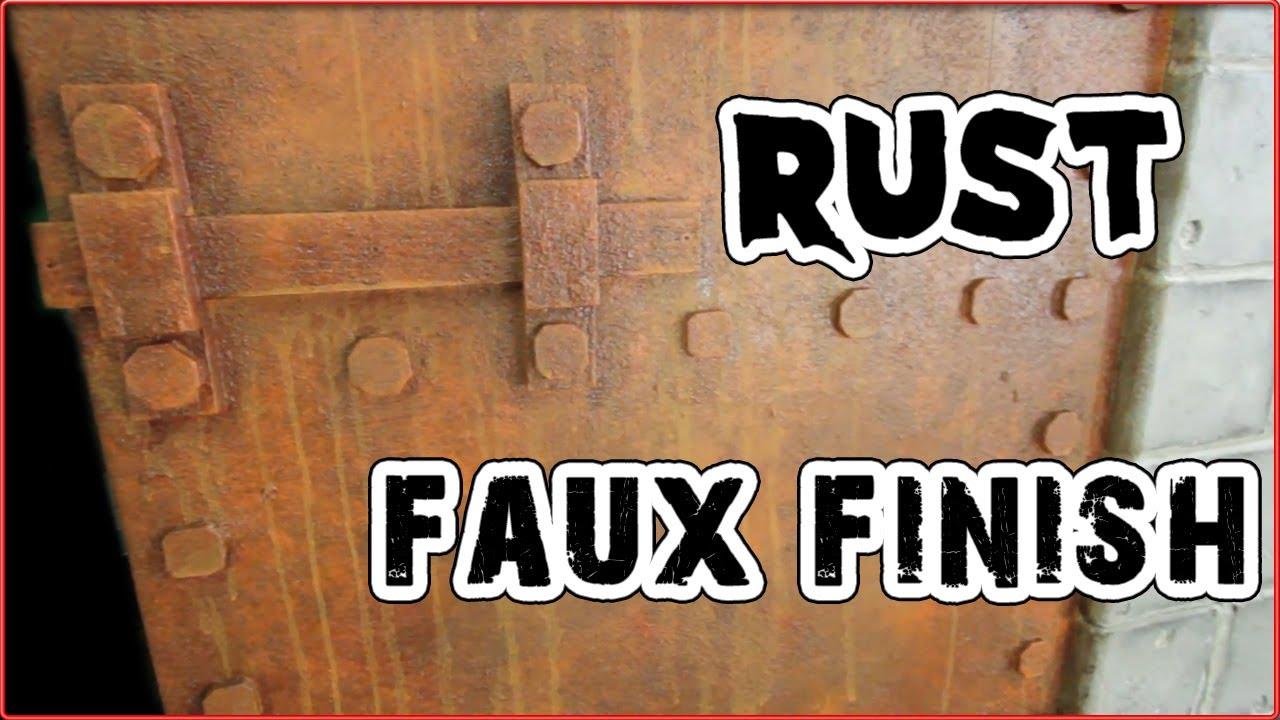 haunt ventures 165 rust faux finish youtube. Black Bedroom Furniture Sets. Home Design Ideas