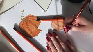 ASMR Drawing & Rambling 🎃🍂