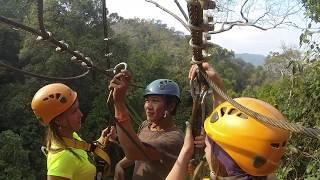 Flight of the Gibbon Pattaya zipline. Полет гиббона в Паттайе видео(My new GoPro video