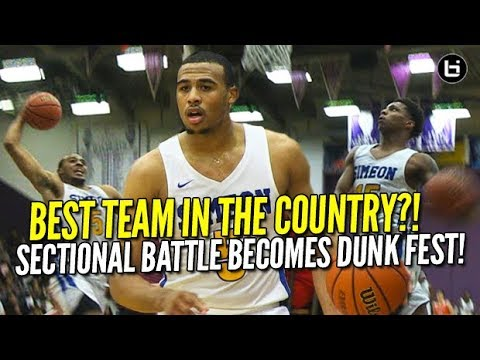 Is Simeon The #1 High School Basketball Team in America? JELLY and JAM in Sectionals!