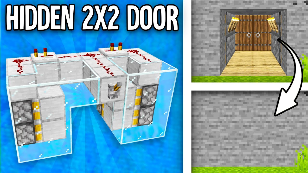 Tutorials Secret Door Official Minecraft Wiki