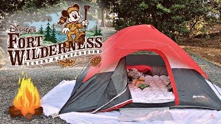 OUR FIRST TIME GLAMPING! Disney's Fort Wilderness Resort & Campground | Full Tour 2018