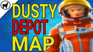 Dusty Depot Treasure Map Location | Battle Pass Weekly Challenges | Fortnite Battle Royale