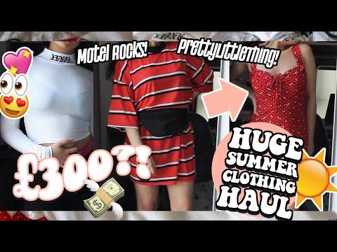 HUGE Summer Clothing TRY ON HAUL ♡ PrettyLittleThing, Motel Rocks