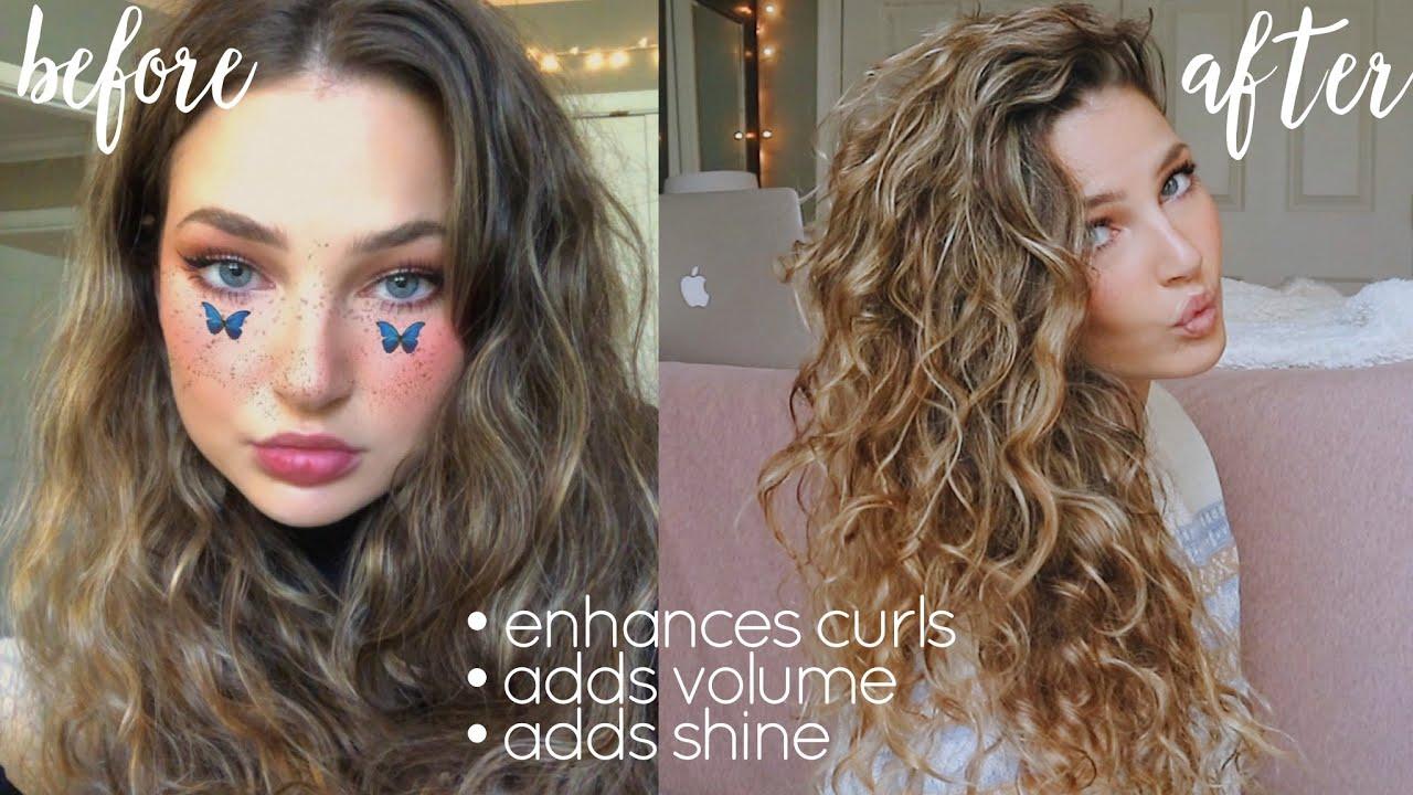 how I plop my wavy hair overnight (2B/2C)