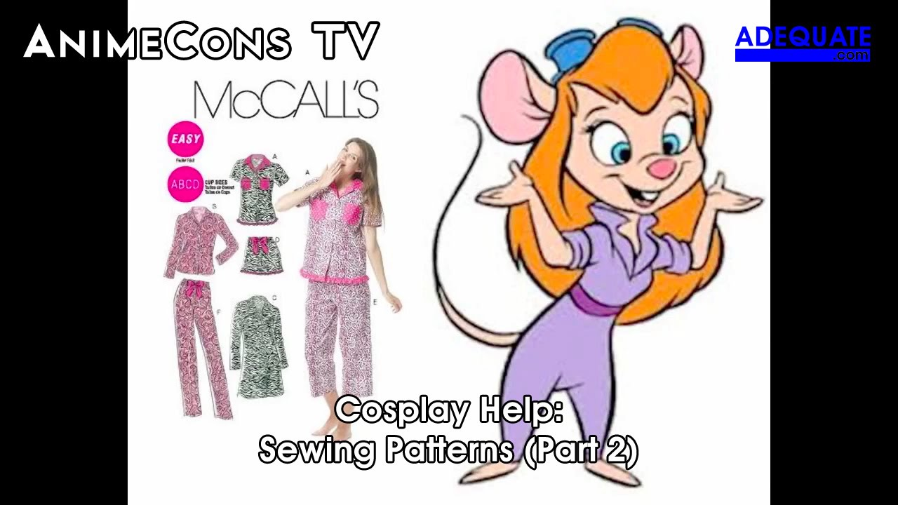 AnimeCons TV - Cosplay Help: Sewing Patterns (Part 2) - YouTube