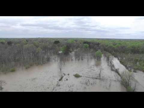 Columbia LA Big Ridge Road Flood March 19 2016