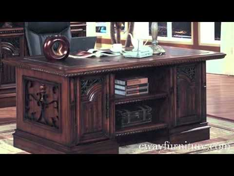 Parker House Barcelona Office Furniture Writing Desk Executive Desk Spanish Revival Style  YouTube