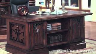 Parker House Barcelona Office Furniture Writing Desk Executive Desk Spanish Revival Style