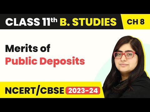 Public Deposits - Merits   Sources of Business Finance   Class 11 Business Studies