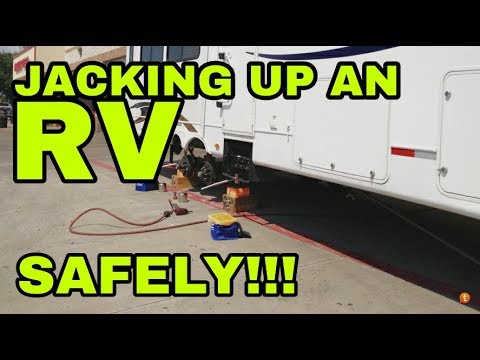 Jacking Up Any Rv Anywhere My New Favorite Accessory Safe Jack Youtube