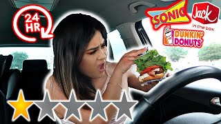 Letting FAST FOOD Employees DECIDE what i EAT for 24 HOURS *1 STAR*
