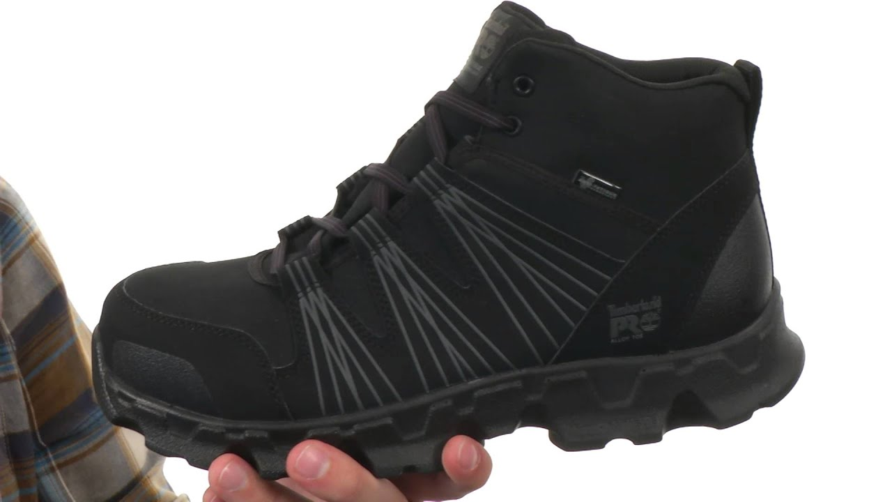 6321e8dc Timberland PRO Powertrain Mid Alloy Safety Toe ESD SKU:8555459 - YouTube