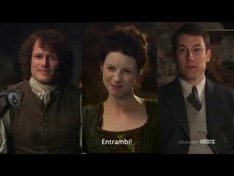 New Pictures Of Sam Heughan Tobias Menzies And Caitriona