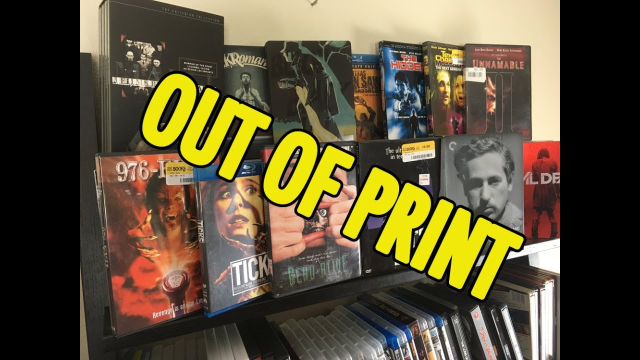 My Rare / Out of Print Blu-Ray & DVDs - YouTube