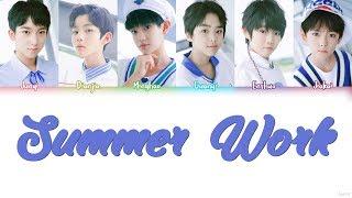 Gambar cover YHBOYS (乐华少年) - SUMMER WORK (夏日习作) Lyrics (CHN/PINYIN/ENG)