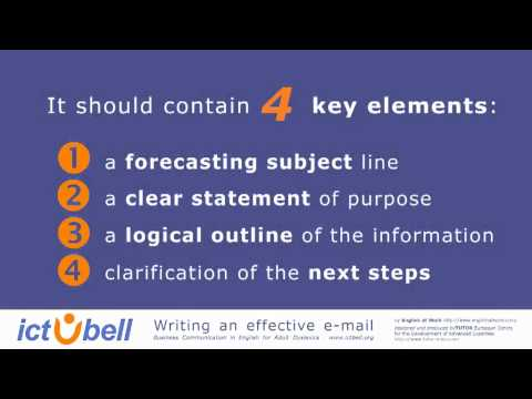 WRITING EFFECTIVE E MAILS Key Concepts