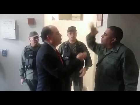 Así fue la discusión entre Julio Borges y el coronel Lugo