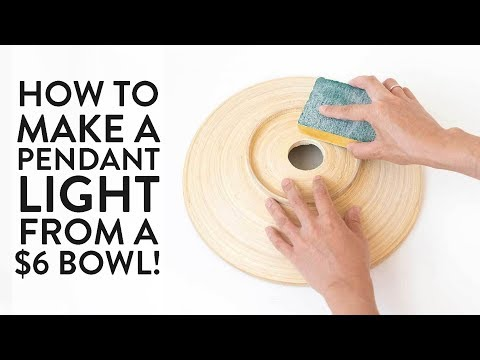 How to Make a Pendant Light from a Wooden Bowl