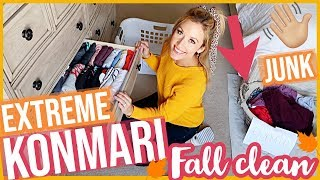CLEAN WITH ME 2019! ULTIMATE KONMARI DECLUTTER EXTREME CLEANING MOTIVATION | FALL CLEAN 2019