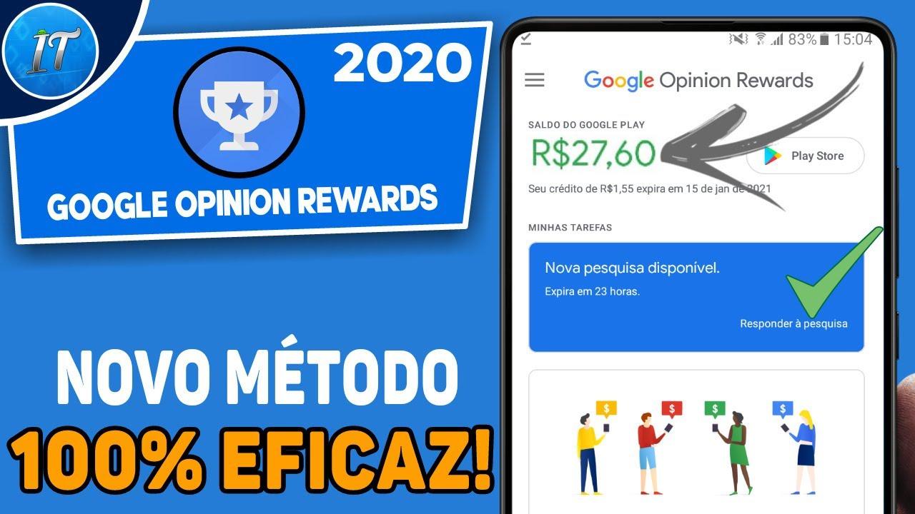 Como Receber Muitas Pesquisas No Google Opinion Rewards [Novo Método] - 2020 / 100% Garantido!
