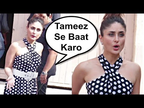 Kareena Kapoor Gets Very Angry On Media For Misbehaving With Her