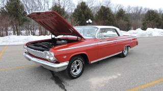 1962 chevy impala red and white for sale at www coyoteclassics com