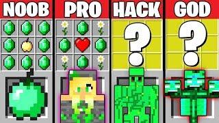 Minecraft Battle: EMERALD MOB CRAFTING CHALLENGE ~ NOOB vs PRO vs HACKER vs GOD – Mods Animation