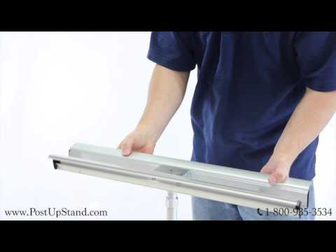 How to Assemble a Silver Pro Double-Sided Telescopic Display