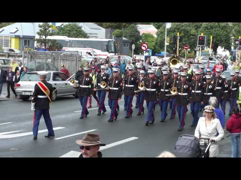 New Plymouth Street Parade - Pacific Marine Band during the RWC 2011