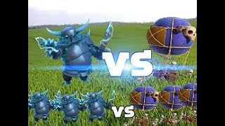 Clash of clans Battle || Super pekka VS Drop ship || Builder base || Verses Battle part 3