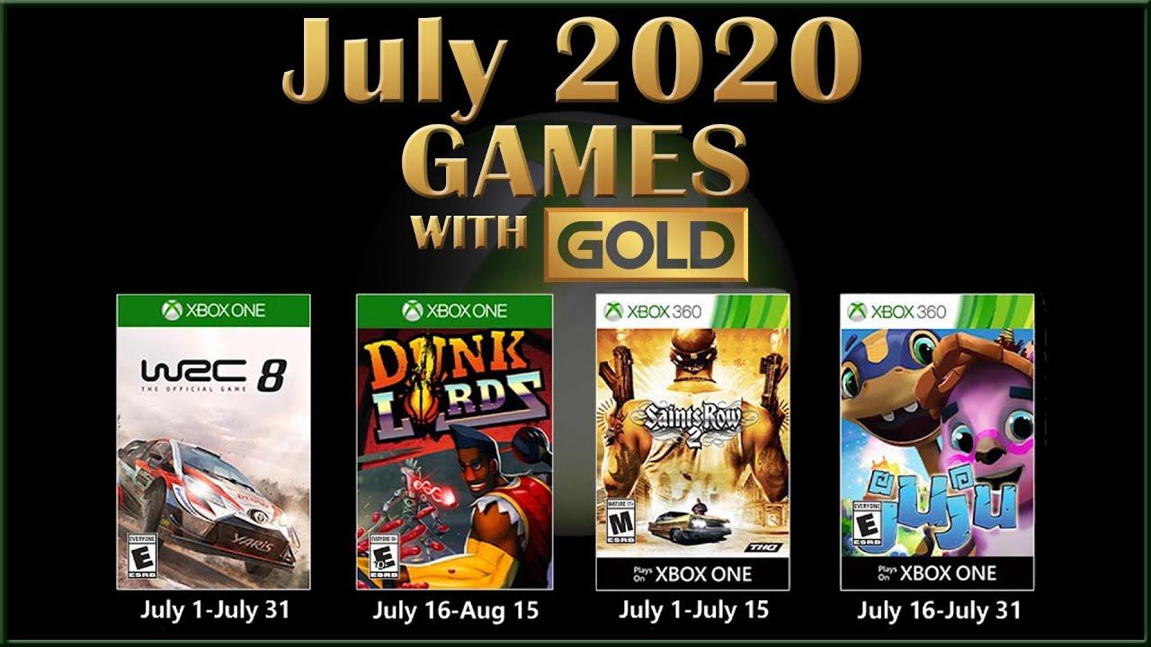 Games With Gold: giochi GRATIS di Luglio 2020 su Xbox One e 360