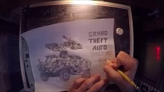 GTA Online APC Tank Drawing